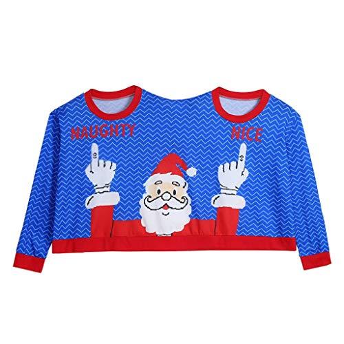 Soupliebe Zwei Personen Pullover Unisex Paare Pullover Neuheit Weihnachten Bluse Top ()