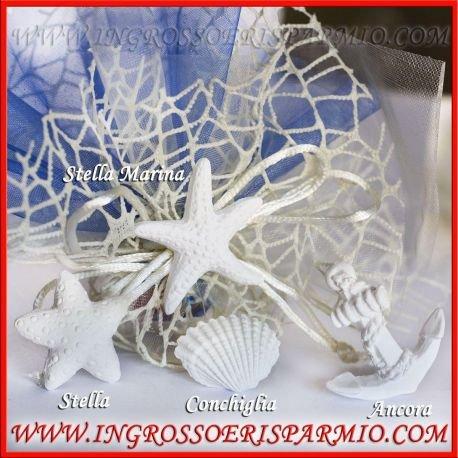 Ingrosso e risparmio gessetti bianchi a forma di conchiglia per ricorrenze tema mare, possono essere profumati - bomboniere battesimo comunione,nozze,cresima,compleanno (kit 192 pz)