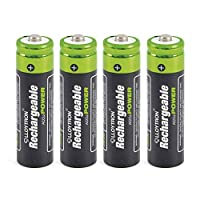 LLOYTRON NiMH Rechargeable AccuPower Batteries AA Size 800mAh 4 Pack - B011
