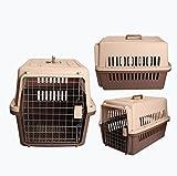 Love pet Confezione da viaggio per animali Fuori dalla scatola d'aria Gabbia per gatti Scatola di trasporto aereo per trasporto di animali domestici per cani (Colore : Brown, dimensioni : S.)