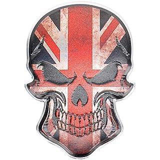 3D Metall Skull Totenkopf Sticker Logo Emblem Badge Auto Aufkleber England UK GB