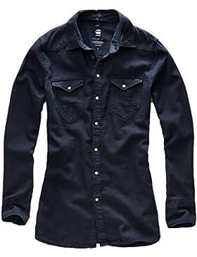 G–STAR Mujer Camisa Tacoma Straight Camiseta WMN–DK Saru Blue, dk saru bl, large