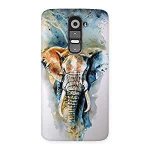 Special Elephant Art Back Case Cover for LG G2