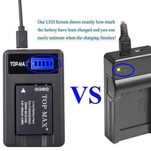 Details zu TOP MAX® DMW BCG10E BCG10 E Akku + USB Ladegerät für Panasonic Lumix DMC 3D1