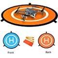 "NIUTOP Portable Landing Pad for RC Drones Helicopter DJI Mavic Pro Phantom 3 Phantom 4 Inspire 1 and Quadcopters, 30"" (75cm) (DJI Mavic Pro Not Included)"