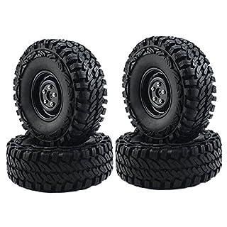 AntEuro RC Crawler 1/10 On Klettern 1,9-Zoll-Kunststoff-Felgen und Reifen 114mm-Set für D90 SCX10