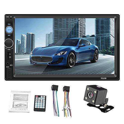 LLDHWX Bluetooth Auto-Stereo-Radio, 2 DIN 7-Zoll-HD MP5 FM-Spieler-Touchscreen-Verbindungskamera, die IOS-Android-System unterstützt (2 Din 7 Zoll-auto-stereo)
