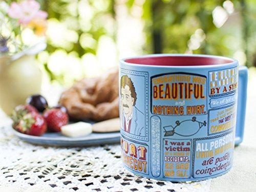 Kurt Vonnegut Kaffeetasse - Vonneguts berühmteste Zitate - in einer lustigen Geschenkbox