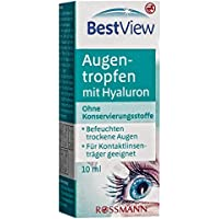 Best View Augentropfen mit Hyaluron 10 ml ohne Konservierungsstoffe, befeuchten trockene Augen, für Kontaktlinsenträger... preisvergleich bei billige-tabletten.eu