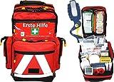 Erste Hilfe Notfallrucksack Sport, Sportvereine, Freizeit , Event & Freizeit - Nylonmaterial mit weißen Reflexstreifen