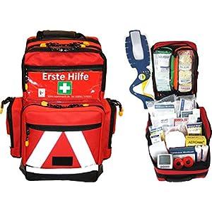 Erste Hilfe Notfallrucksack Sport, Sportvereine, Freizeit , Event & Freizeit – Nylonmaterial mit weißen Reflexstreifen