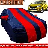 #7: Autofact Car Body Cover for Maruti Celerio (Mirror Pocket , Premium Fabric , Triple Stiched , Fully Elastic , Red / Blue Color)
