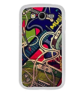 PrintVisa Designer Back Case Cover for Samsung Galaxy Grand Neo I9060 :: Samsung Galaxy Grand Lite (Graphic Image of Music Gadgets Guitar)