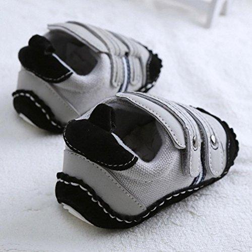 Jamicy® Baby Mädchen Jungen weichen Sohle unten Flats Schuhe Sneaker Sportschuhe Gray
