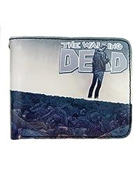 The Walking Dead - Cartera para hombre de Material Sintético  Hombre Azul multicolor