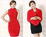 #10: My Shope multi wear fashionable magic scarf multi style streachable ( Red)