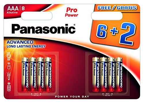 Panasonic Multipack 6+ 2Batterien Alkaline AAA LR03Pro Power