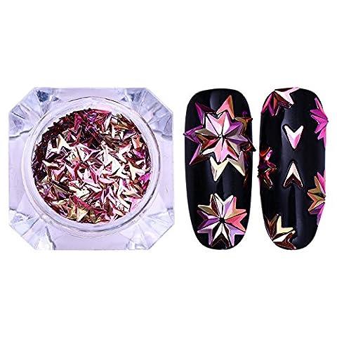 """Bonniestore 1G à ongles Paillettes caméléon Stickers pour ongles 2mmx4mm en V irisé """"Flakies"""" Paittelle 3d Nail Art Déco pour femme DIY Accessoires"""