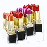 Mobengo, supporto porta rossetti in acrilico trasparente per organizzare il makeup, 24 slot