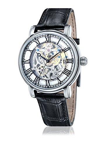 Thomas Earnshaw - ES-8040-01 - Longcase - Montre Homme - Automatique Analogique - Cadran Blanc - Bracelet Cuir Noir