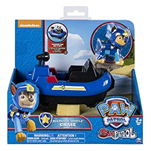 Spin Master Paw Patrol Sea Patrol Themed Vehicle Chase vehículo de Juguete - Vehículos de Juguete (Negro, Azul, Camión, 3 año(s), Niño, Interior, China)