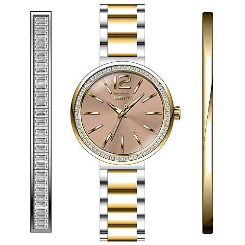 Invicta Angel Reloj de Mujer Cuarzo analógico Correa y Caja de Acero 29275