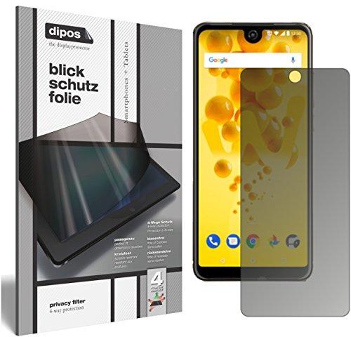 dipos I Blickschutzfolie matt passend für Wiko View 2 Pro Sichtschutz-Folie Bildschirm-Schutzfolie Privacy-Filter