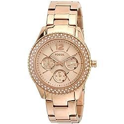 Fossil Stella Analog Rose Dial Women's Watch - ES3590I