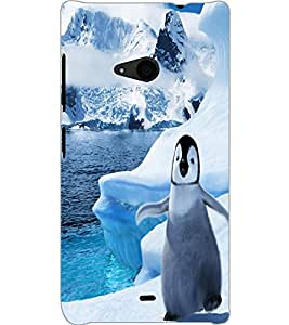 MICROSOFT LUMIA 535 PENGUIN Back Cover by PRINTSWAG