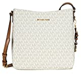 Michael Kors Jet Set Travel Large Logo Messenger - Vanilla