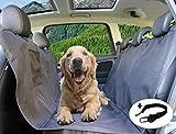 PiCoon Hundedecke Auto/Autoschondecke für Hunde in schwarz, wasserdicht, mit Sicherheitsgurt, für alle Automodelle, 160cm x 143cm, Rücksitz Rückbank Schondecke Schutzdecke Sitzschutz Kofferraumschutz