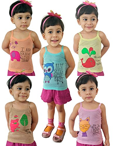 HAP Kids Colored Camisole \Pack Of Five