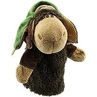 Marioneta - SODIAL(R)Marionetas de mano de animal de felpa de terciopelo lindo Disenos elegantes Juguete ayuda de aprendizaje del nino (Lei Feng Ovejas) Gris