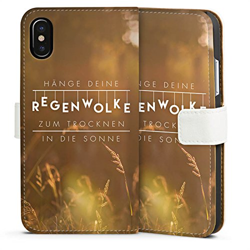 Apple iPhone 6s Hülle Tough Case Schutzhülle Motivation Spruch Statement Sideflip Tasche weiß