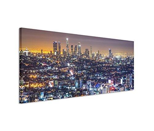 Paul Sinus Art 150x 50cm Toile sur châssis Veilleuse Los Angeles Skyline sur Toile comme panoramique