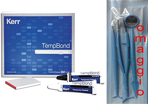 Temp Bond & tempbond Kerr Beton für vorläufigen, Brücken, Kronen, Kapseln + Zusatzartikel