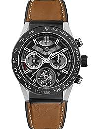 Tag Heuer Carrera Titan, auf braun Kalb Haut Gummi/Lederband car5a8y. ft6072