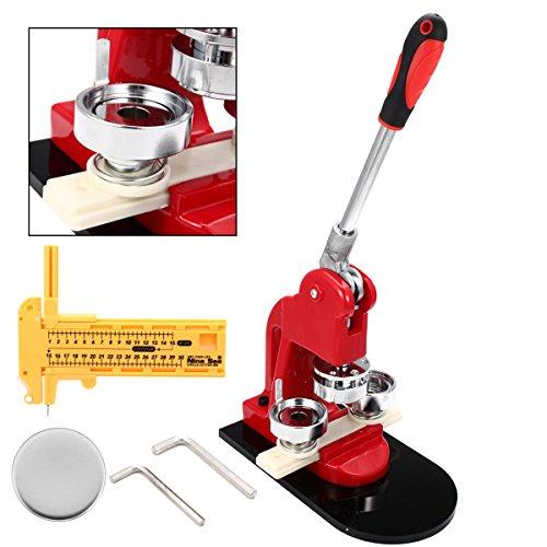 HELEISH Button Maker Abzeichen, das Maschine herstellt Button Maker Machine 44MM Aluminium Runde Form mit 500 Stück Abzeichen Zubehörwerkzeug (Abzeichen Button Maker Maschine)