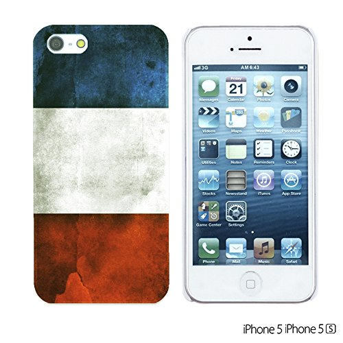 OBiDi - Flag Pattern Hard Back Case / Housse pour Apple iPhone SE / Apple iPhone 5S / 5 - Germany France