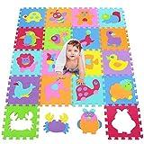 Tapis de sol épais pour l'éveil de bébé - 1119 - puzzle géant aux motifs Animaux...