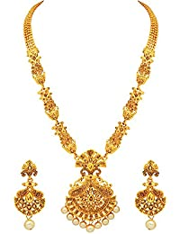 Atasi International Gold Plated Jewellery Sets for Women (Multi-Colour) (AG2063)