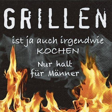 51FCRTySInL - PAPER + DESIGN 20 Lunchservietten Design Grillen für Männer
