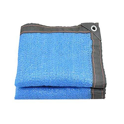 6-pin Shade Cloth Balcon Shad Net 85% Shade Sunblock Résistant Aux UV Léger Bâche Pour Plante À Fleurs, Bleu (taille : 5 * 7m)
