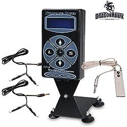 Generic Hurricane Digital Tattoo Machine Tattoo Power Supply Kit Pro P010DIY (P010DIY)