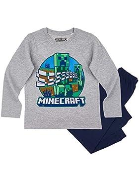 Minecraft Chicos Pijama - Gris