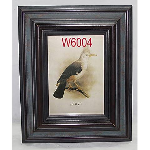 ZQQ Casa in legno massello partita HD vetro cornice per foto con cornici antiche , 7.5*7.5 - Hd Vetroresina