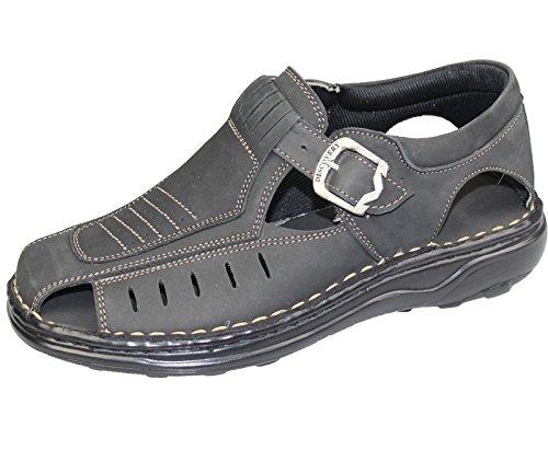 Buckle Sandals Marcher Mode Casual Summer Beach Slipper Chaussures en cuir pour homme Black