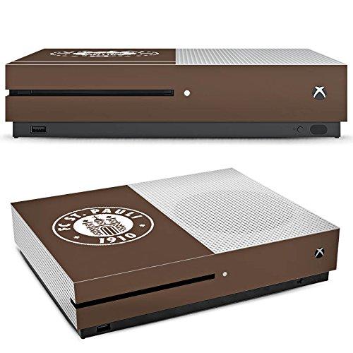 DeinDesign Microsoft Xbox One S Folie Skin Sticker aus Vinyl-Folie Aufkleber FC St. Pauli Fanartikel Fussball