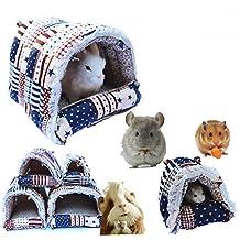 Mkono acogedor cálido hamaca colgante tienda de campaña cama casa hábitats jaula para mascotas conejo/Guinea Pig/Galesaur/hámster/Chinchilla