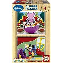 Educa 13467 La Casa de Mickey - Puzzles de madera (2 unidades x 9 piezas)